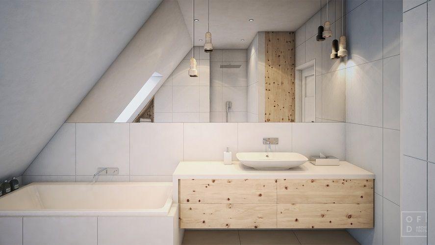 Baie in mansarda moderna chiuveta lavoar mobilier 4 usi