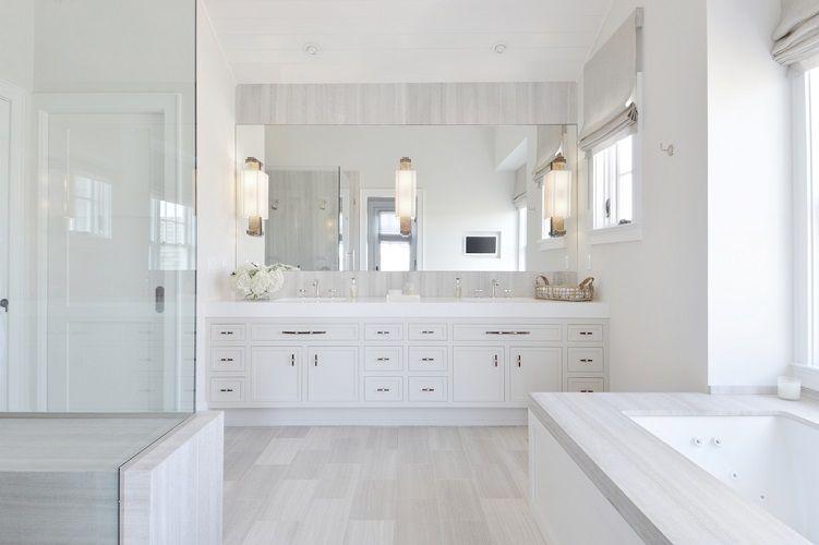 baie moderna mare mobilier de baie modern alb
