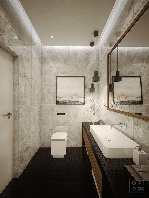 mobilier modern baie gresie neagra marmura