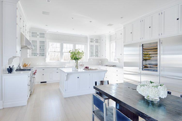 Amenajare bucatarie mare moderna in alb mobila moderna alba