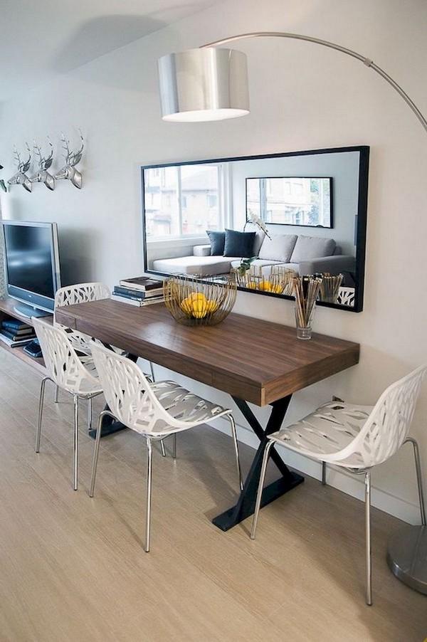 amenajare living modern cu loc de luat masa