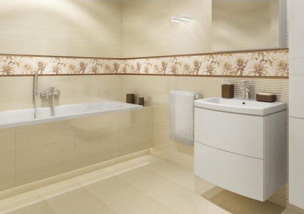 Dulap baie alb cu oglinda din PAL hidrofugat in baie