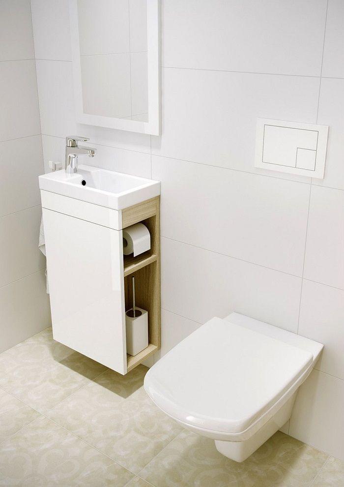 Dulap de baie alb cu masca lavoar 40 cm