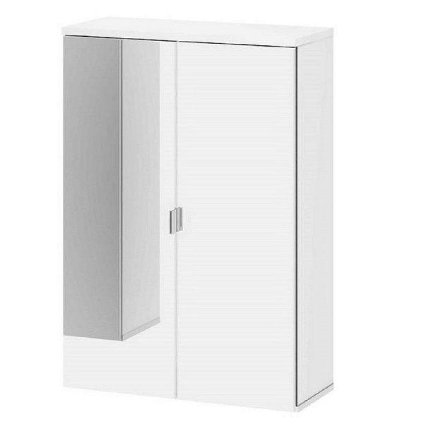 Dulap oglinda cu 2 usi alb lake tvilum 50 21 72 cm