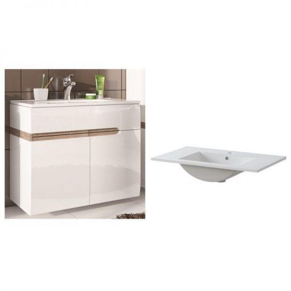 mobilier baie lavoar modern alb mobila baie
