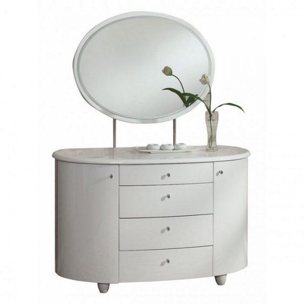Masa de toaleta cu oglinda set masuta alba cosmetica machiaj oglinda