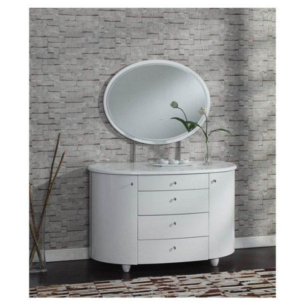Masa de toaleta cu oglinda set masuta alba cosmetica machiaj oglinda sea126