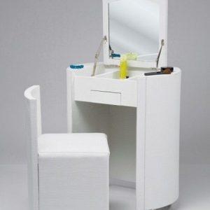 Masa de toaleta cu oglinda set masuta alba plus scaun