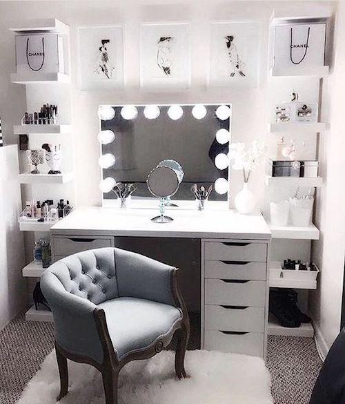 masa de toaleta cu lumini masa toaleta cu oglinda si sertare moderna