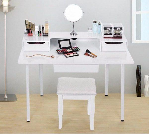 masa toaleta alba masa birou cosmetica machiaj masuta birou modern maa103 cosmetice
