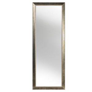 oglinda decorativa lemn dreptunghiulara mare argintie din lemn holzart
