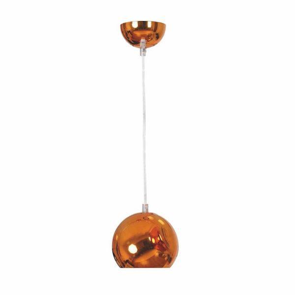 pendul retro cupru bulb lustra culoare cupru