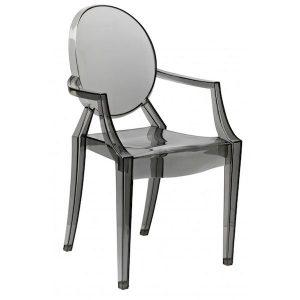 scaun bucatarie negru policabornat retro cu brate modern