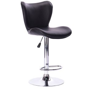 scaun de bar cromat piele ecologica modern