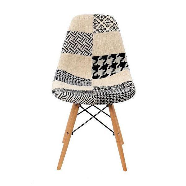 scaun living ieftin modern gri crem material textil clasic