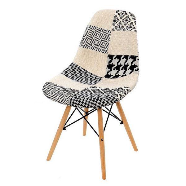 scaun living ieftin modern gri crem material textil