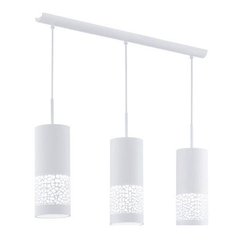 Lustra moderna alba 3 becuri LED corp de iluminat modern