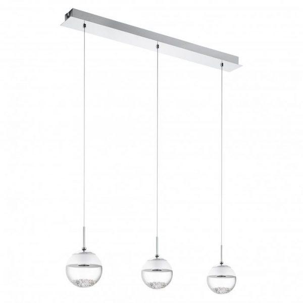 Pendul LED modern alb din sticla living bucatarie 15w