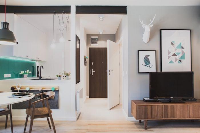 amenajare garsoniera 36 m2 stil modern living modern bucatarie moderna
