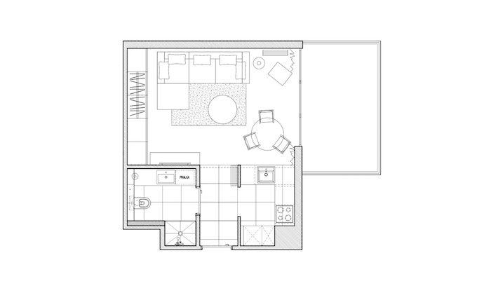 amenajare garsoniera idei moderne plan garsoniera 36 m2