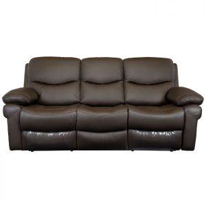 canapea moderna maro 3 locuri 2 reclinere 220x98x100 cm