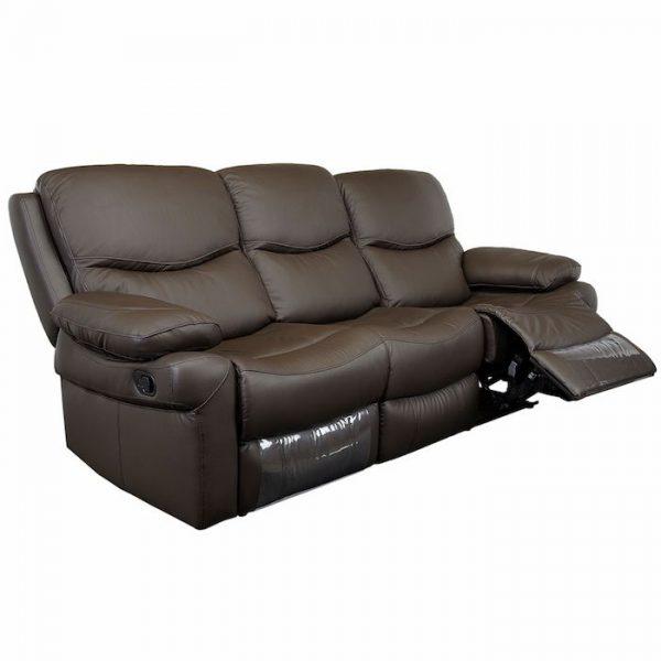 canapea moderna maro 3 locuri 2 reclinere 220x98x100 cm canapea living
