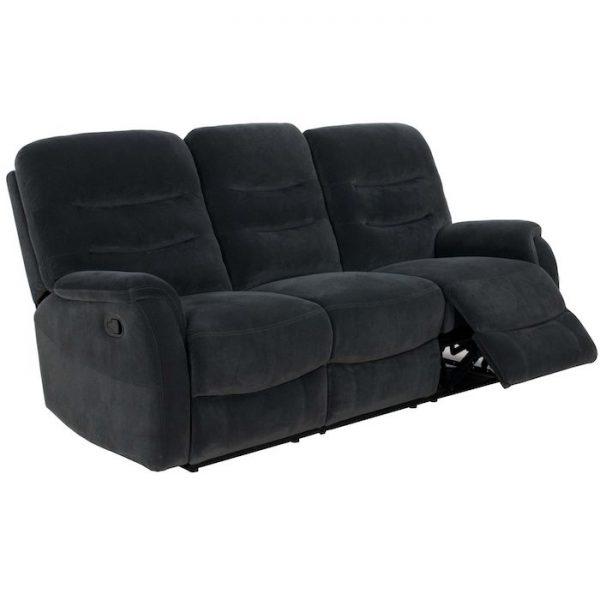 canapea moderna material textil 2 reclinere 3 trepte de confort canapea living