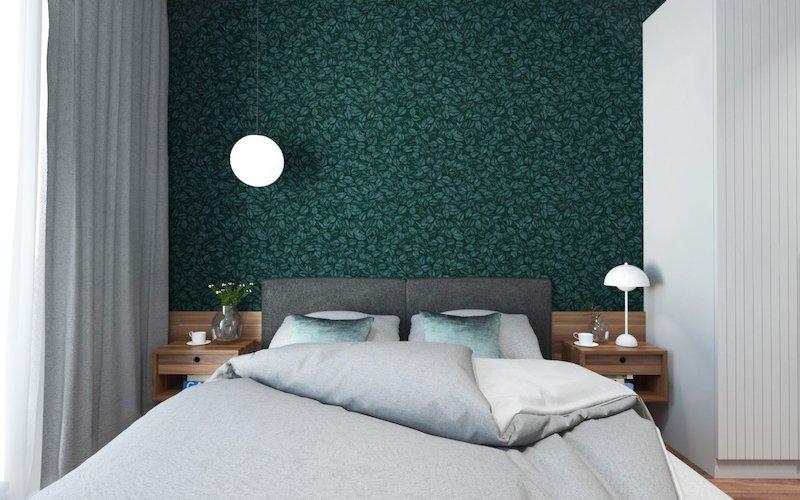 amenajare dormitor modern tapet apartament 2 camere mic