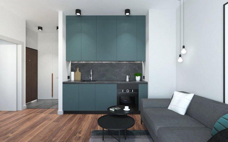 amenajare living cu bucatarie modern amenajare apartament modern