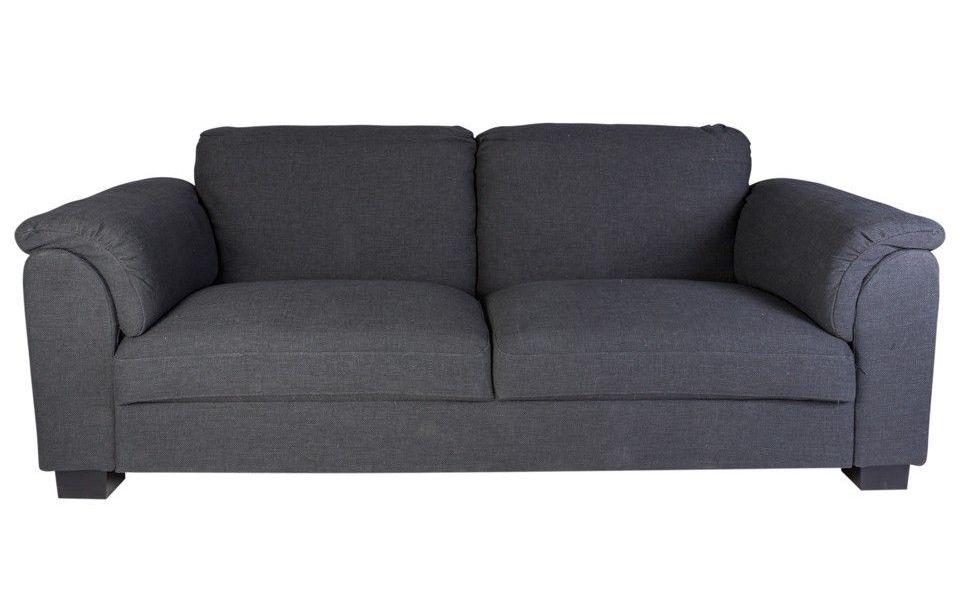 Canapea 3 Locuri, Stofa, Gri, Moderna, 230 x 59 x 47 cm