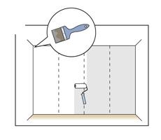 cum se aplica tapetul pe perete 1