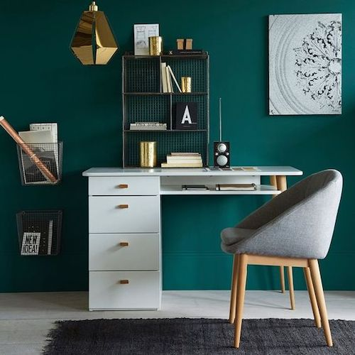 idee amenajare birou cu mobilier cu sertare