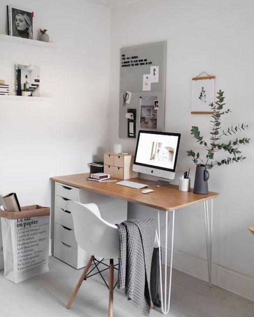 idee amenajare birou cu sertare, birou acasa