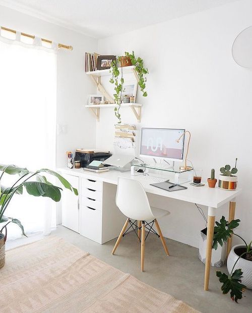 idee amenajare birou in living