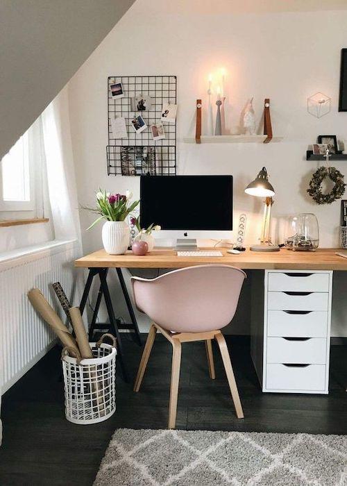 idee moderne de amenajare birou acasa la mansarda