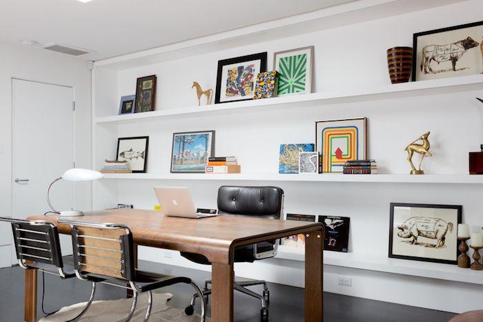 idei amenajare birou acasa modern masa birou mare scaune birou