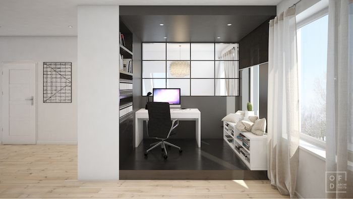idei amenajare birou mic acasa masa birou alba mobilier birou alb