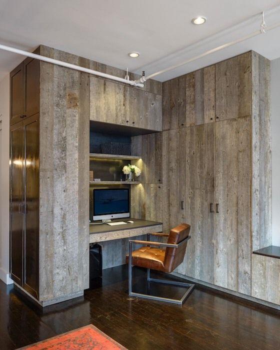 idei birou acasa mic in hol mobilier birou scaun birou piele