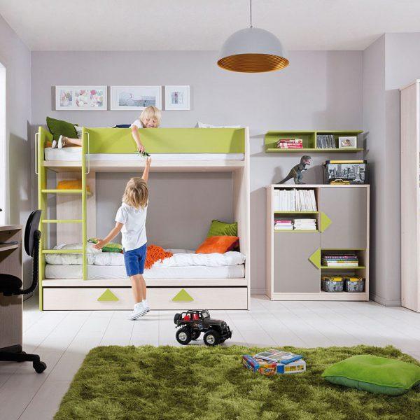 mobilier camera copii pat suprapus modern