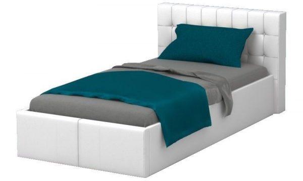 pat tapitat copii alb piele modern pat camera copii