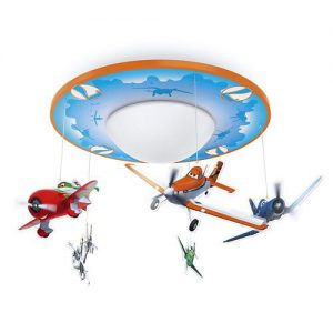 Aplica camera copii albastra portocalie Philips Disney avioane