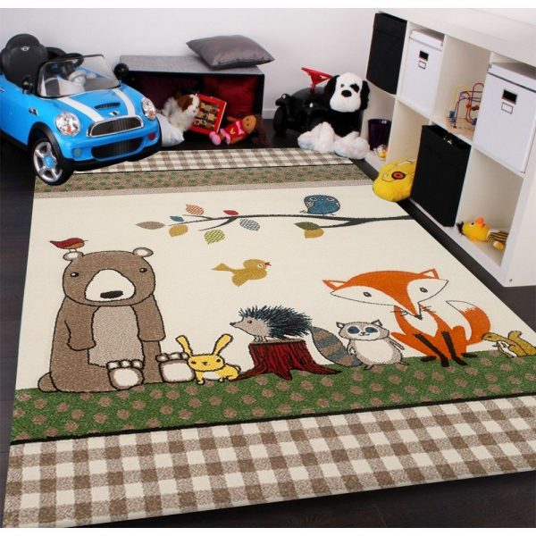 Covor animale pentru copii covor camera copii colorat 80 x 150 cm
