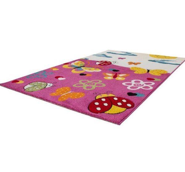 Covor colorat pentru copii covor camera copii fluturi mamarute 120 x 170 cm polipropilena