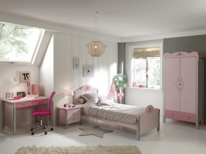 amenajare camera fete moderna mobilier camera fetite roz