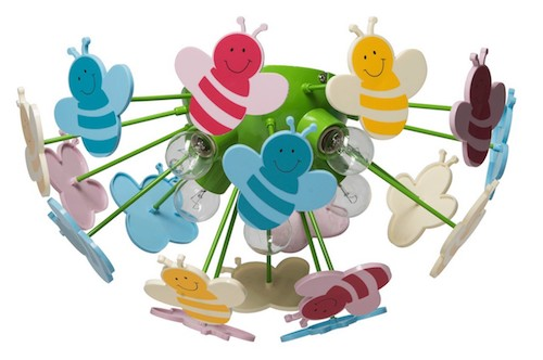 corp de iluminat pentru copii multe culori albine amenajare camera copii