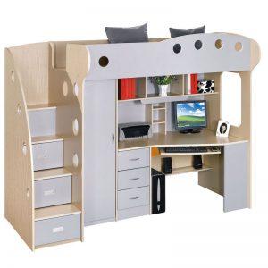 mitor copii multifunctional gri pat copii birou copii mobilier copii