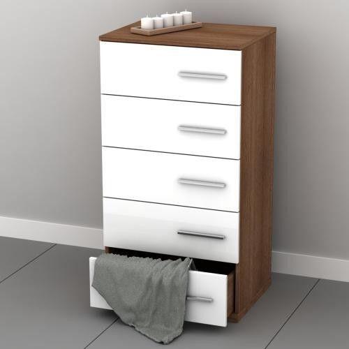 dulap modern corp 5 sertare alb 55x107x43 ieftin