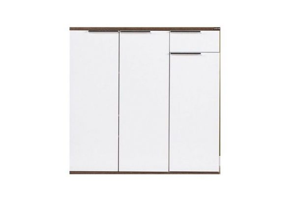 dulap pentru incaltaminte alb 3 usi multifunctional nuc alb 90x90x33cm