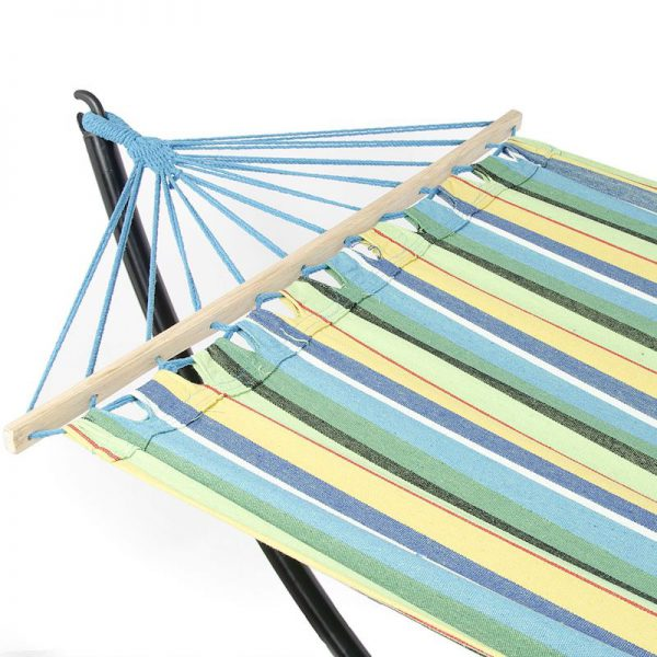 hamac cu suport multicolor mobila gradina mobilier detalii