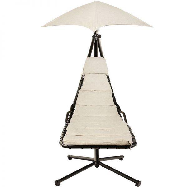 leagan balansoar negru alb cu umbrela rezistent la ploaie